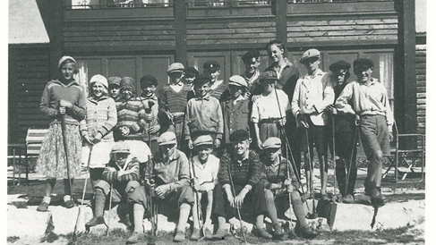 Caddie competition in 1931 at Falsterbo GC